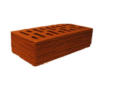 Кирпич облицовочный Красный Дикий камень 1НФ (одинарный) Арский