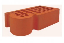 Кирпич облицовочный фасонный Красный 1 НФ (одинарный) Железногорский