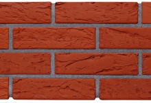 Кирпич керамический лицевой пустотелый с декорированной поверхностью 0,7НФ (Евро формат) Красный кора дерева Кирово-Чепецк