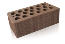 Кирпич керамический пустотелый полуторный (1,4 НФ) Шоколад бархат Кощаковский