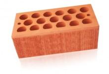 Кирпич керамический пустотелый полуторный (1,4 НФ) Красный бархат Кощаковский