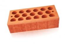 Кирпич керамический пустотелый одинарный (1НФ)Красный бархат Кощаковский