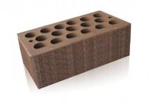 Кирпич облицовочный Шоколад Бархат 1.4НФ (полуторный) Ак Барс Керамик
